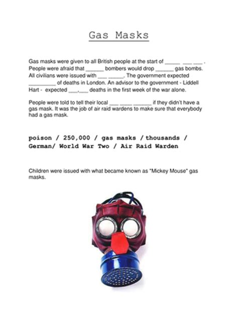 gas mask template wwii gas masks model made from card by simspurejuice