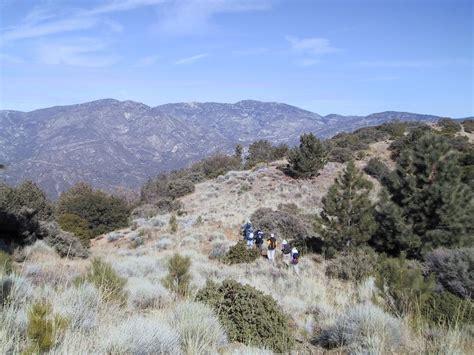 sierra peaks section southern california hiking barley flats february 01 2004