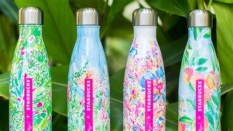 lilly pulitzer starbucks swell bottle shop the new lilly pulitzer water bottle for s well at