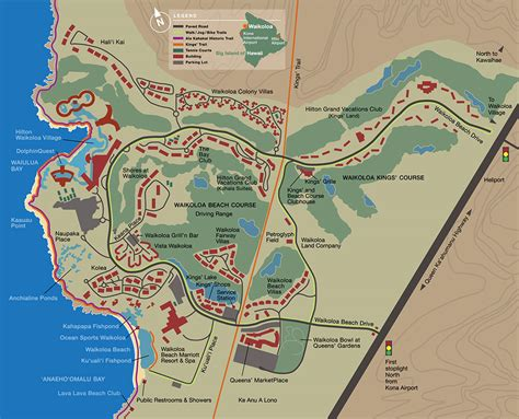 waikoloa resort map big island villas vacation rentals waikoloa