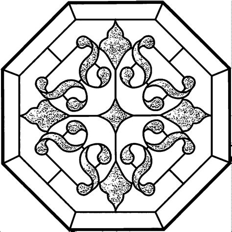 mandala stained glass coloring books black and white mandala vector graphics