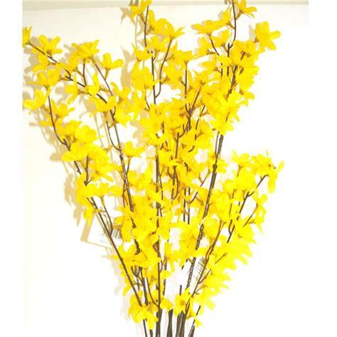 Nautical Decorations For Home Artificial Decorative Forsythia Spray Yellow Shelf Edge