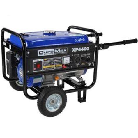 duromax 4 400 3 500 watt gasoline powered manual start