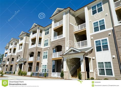 new appartment new apartment building in suburban area royalty free stock