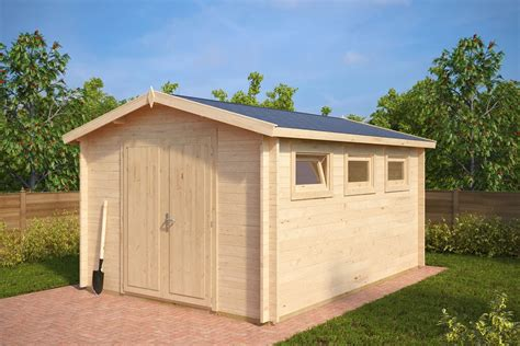 garden shed f 12m 178 3 2 x 4 4 m 40mm hansa wood