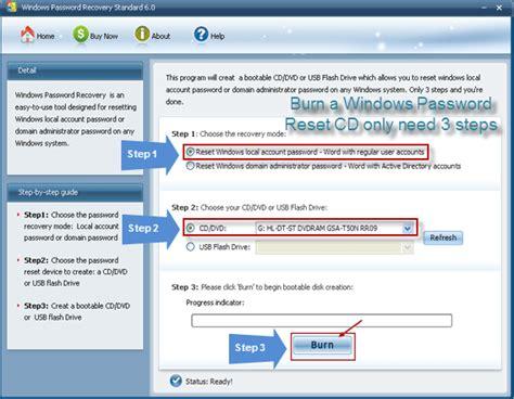 windows password reset standard windows password reset cd how to reset windows password