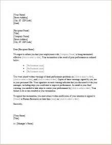 trainee employee termination letter word excel templates