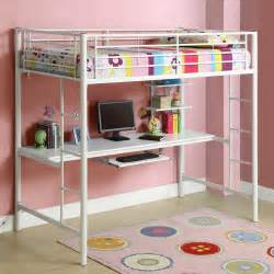White Bunk Bed With Desk Bunk Bed With Desk Underneath Car Interior Design