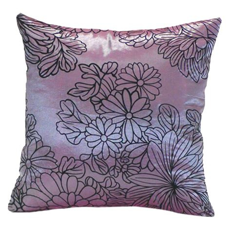 purple decorative pillows for bed home sofa bed car square decorative throw pillow case