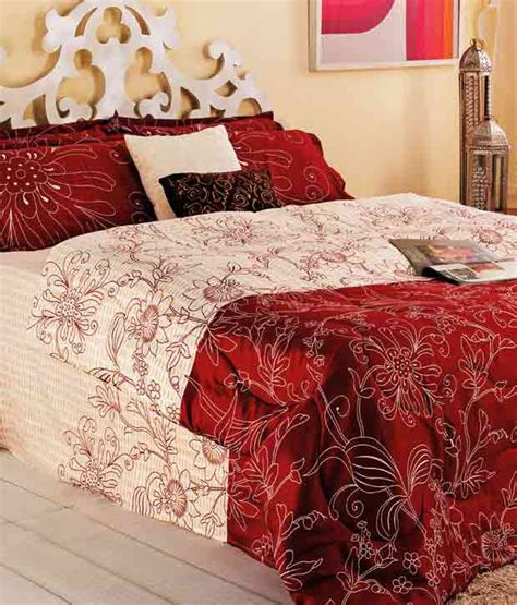maroon bed sheets portico new york maroon double bed sheet 2 pillow covers buy portico new york