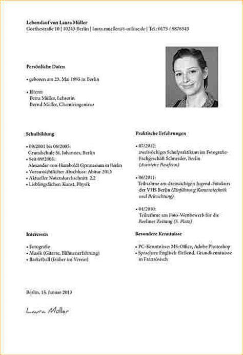 Guter Lebenslauf Vorlage Schweiz 9 Lebenslauf Schreiben Muster Deckblatt Bewerbung