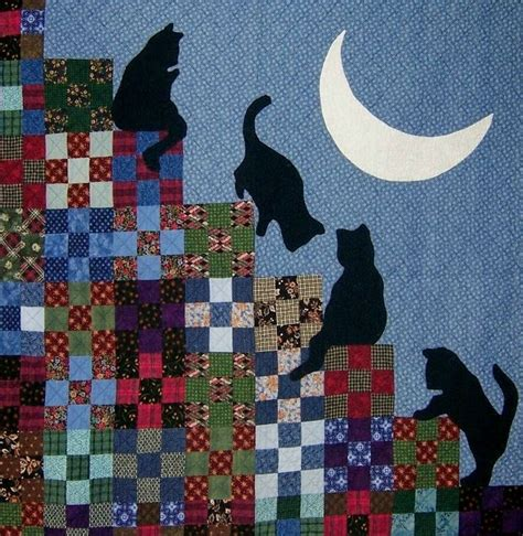 Patchwork Cat Quilt Block Patterns - 1000 ideas about cat quilt on cat quilt