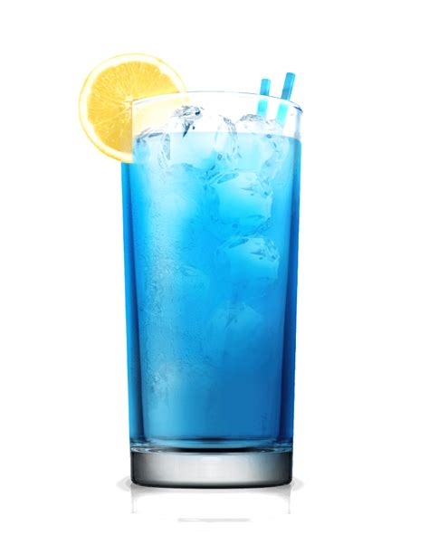 mixed drink blue lagoon cocktail