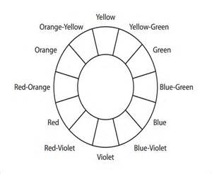 blank color wheel template sle color wheel chart 5 documents in pdf