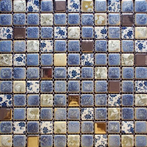 Ceramic Kitchen Backsplash Porcelain Tile Backsplash Kitchen For Walls Blue And White