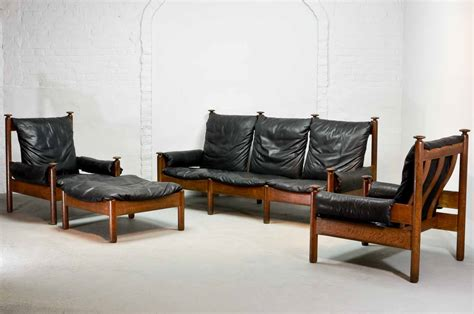 sturdy sofa sturdy midcentury scandinavian smooth black leather sofa