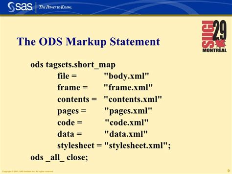 xml tutorial short ods markup and tagsets a tutorial