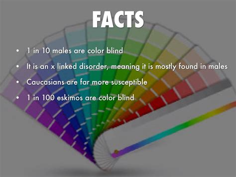 facts about color blindness color blindness by george bevis