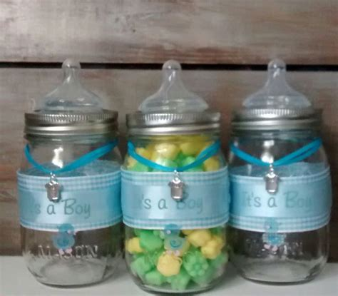 baby bottle centerpieces baby shower baby shower favor jars blue baby bottle baby