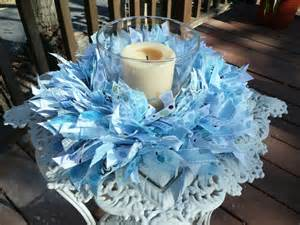 baby boy baptism centerpieces baby boy blue ribbon wreath baby showerwall by