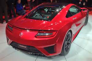 2016 acura nsx shows its fierce new 550 hp in detroit