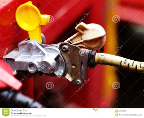 truck to trailer air brakes connection stock image image