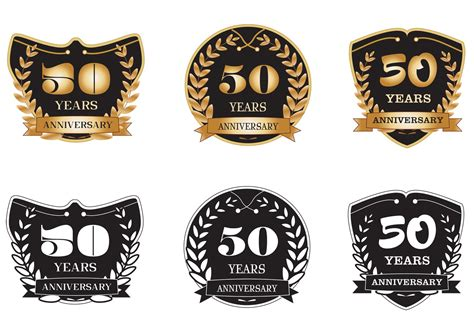 Was Sind Badges by 50 Years Anniversary Badges Free Vector