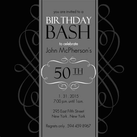 50th Birthday Invitation Templates A Birthday Cake Invitation Templates 50th Birthday