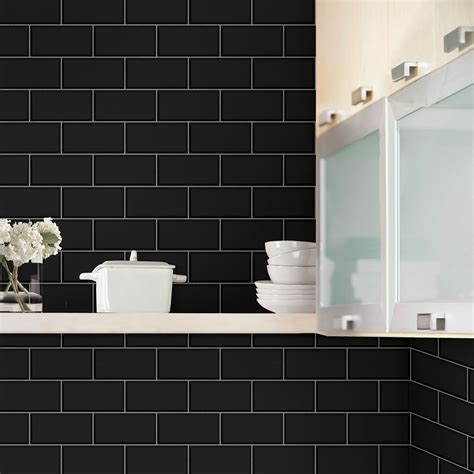 bathroom wallpaper tile effect subway tile effect wallpaper black fine decor fd40137