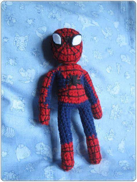 knitting pattern for spiderman doll spider man amiguri full by giraffesonparades on deviantart