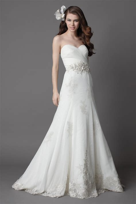 strapless lace wedding dresses for romantic and