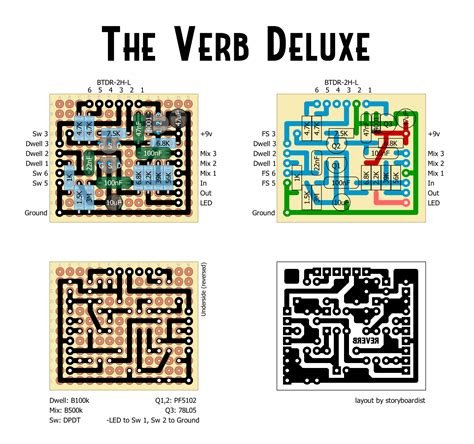 to layout verb perf and pcb effects layouts mod the verb deluxe