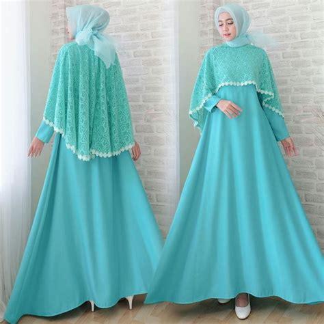 Batik Gamis Sofia gamis lebaran cape brokat terbaru sofia toska model baju