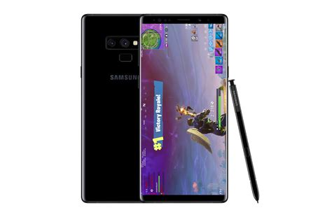 source samsung galaxy note   launch  fortnite mobile