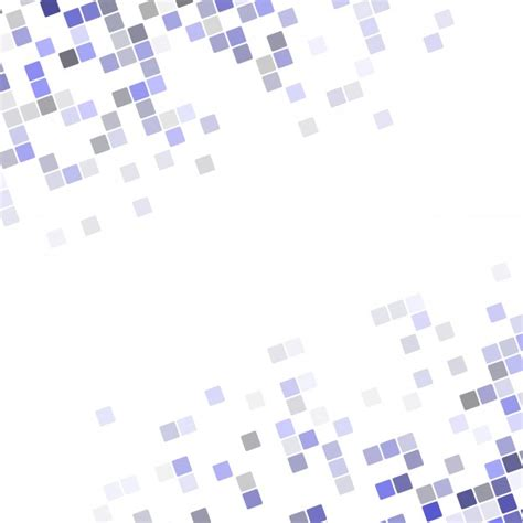 design without background abstract pixel square corner design background vector