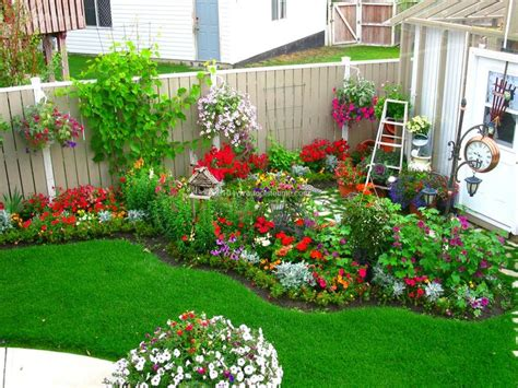 Flower Garden Ideas For Small Yards Backyard Flower Garden Outdoors Gardens Beautiful And Hanging Baskets