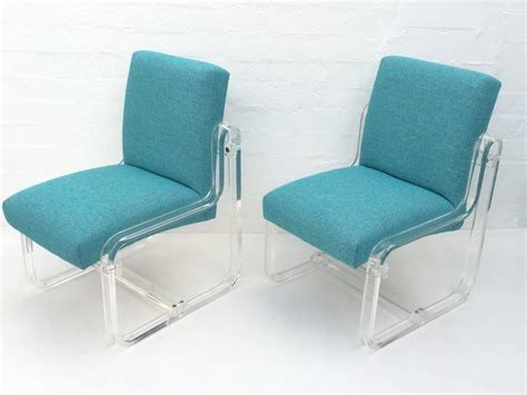 Acrylic Dining Room Chairs by Set Of Four Acrylic Dining Chairs By For Sale At 1stdibs