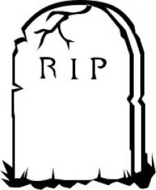 Rip Template tombstone cliparts
