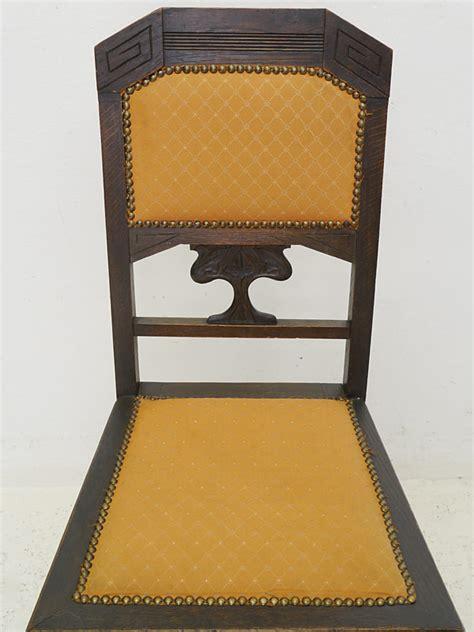 stuhl um 1920 1 stuhl lehnstuhl polsterstuhl antik um 1920 aus eiche mit