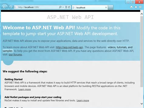 create http service using asp net web api