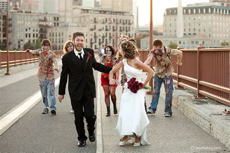 megan and jd park wedding day zombie attack lace hanky photography llc