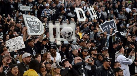 oakland raiders fan experience chargers visit to oakland to play the rival raiders is