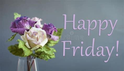 Happy Friday Floral Finds by Happy Friday Card Stock Image Image Of Gift Colorful