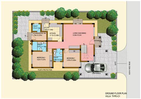 saisawan garden villas ground floor plan house plans luxury villas floor plans