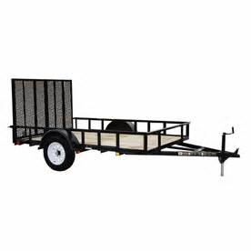 Trailer Tire Lowes Shop Carry On Trailer 6 Ft X 12 Ft Treated Lumber Utility