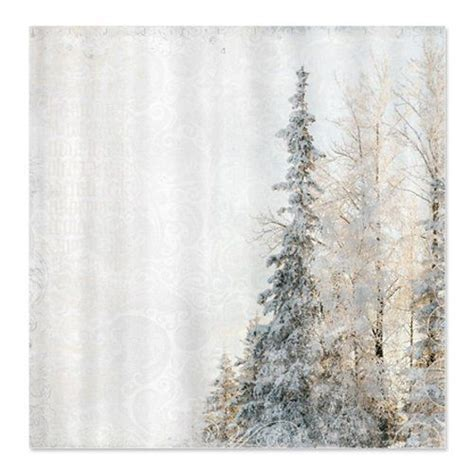 cafepress shower curtain winter shower curtain by cafepress frost and fir