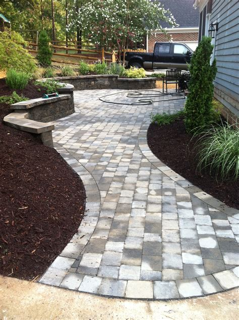 Walkway Designs And Patio Designs Paver Patio Walkway Backyard Pavers Design Ideas