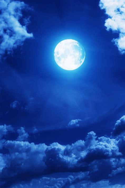 wallpaper moon sky clouds  nature