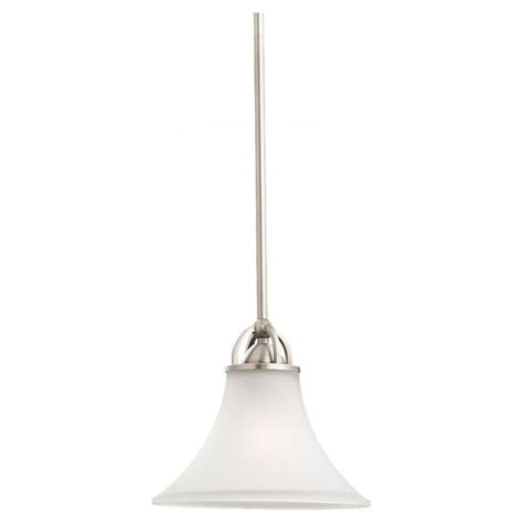 Nickel Mini Pendant Light Sea Gull Lighting Jourdanton 1 Light Brushed Nickel Mini Pendant 6115501 962 The Home Depot