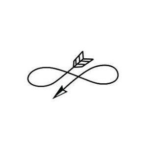 infinity tattoo logo infinity arrow symbol temporary tattoo set of 2